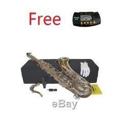 NEW Merano BB Silver Nickel Tenor Saxophone, Case+TunerStudent to Intermediate