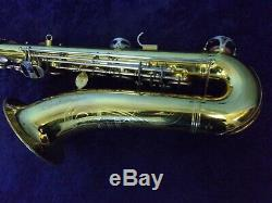 NICE! EVETTE SCHAEFFER TENOR SAXOPHONE With MATCHING NUMBERED NECK + CASE
