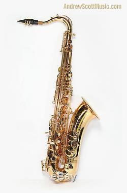 New Gold Tenor Saxophone in Case Masterpiece