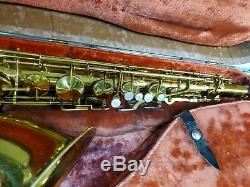 Old Vintage H. N. White Cleveland Tenor Saxophone Brown Hard Case S#c79186 Sax