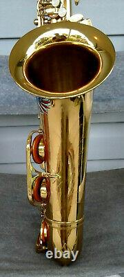 Patriotic MUSICA Gold Eagle Tenor Sax in Very Good Playing Condition withHard Case