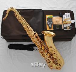 Professioanl GOLD TaiShan Tenor Saxophone Bb Sax High F# Italian pads With Case