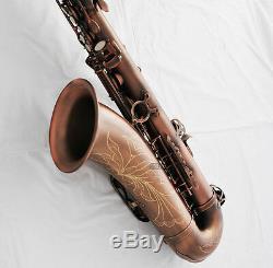 Professioanl QUALITY Red Antique Tenor Sax Saxofon Bb Saxophone High F# New Case