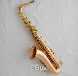 Professioanl Rose Brass Tenor Saxophone High F# sax Abalone shell Key New Case