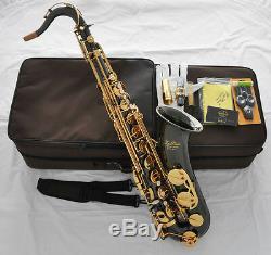 Professioanl TaiShan Black Nickel Gold Tenor Saxophone Bb Sax High F# New Case