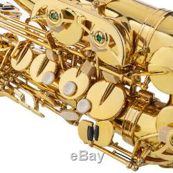 Professional Alto Drop E Tenor Saxophone Gold Sax Abalone Key High Saxofon Cases