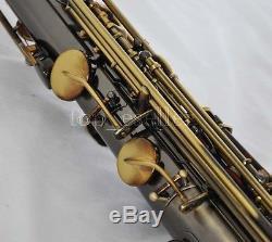 Professional Antique Bronze Tenor Sax Saxophone Bb High F# saxofon New With Case