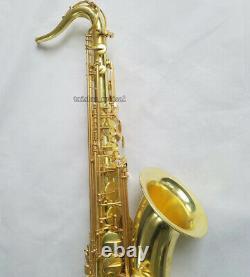 Professional Bb Tenor Saxophone Raw Brass Sax Brand New With Case