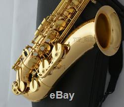 Professional Gold brass Body Tenor Saxophone 62 Model Bb Sax High F# Hard Case