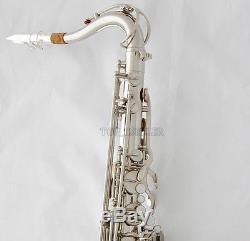 Professional Silver Nickel Tenor Saxophone Sax High F Free Metal Mouthpiece Case