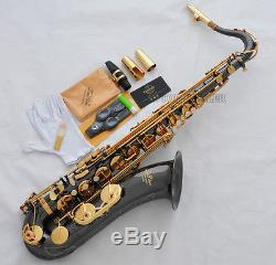 Professional TaiShan Black Nickel Tenor Sax Saxophone Free Metal Mouthpiece Case