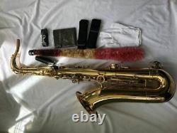 Professional Tenor Saxophone Lacquered Gold Bb High F Free Metal Mouthpiece Case