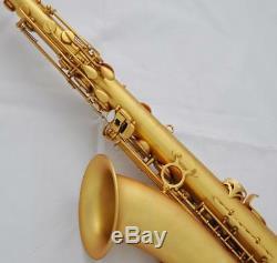 Professional Tenor Saxophone Matt Gold Sax Pearl button Bb High F# With Case