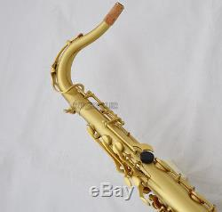 Professional Yellow antique Tenor saxophone Bb High F# sax Black shell Key +Case