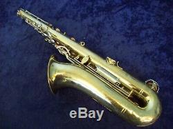 Quality! Selmer 1244 USA Tenor Saxophone + Selmer Case