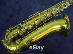 Quality Vintage Buescher Aristocrat U. S. A. Tenor Saxophone + Case