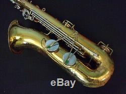 Quality Vintage! Bundy Selmer Tenor Saxophone U. S. A + Case