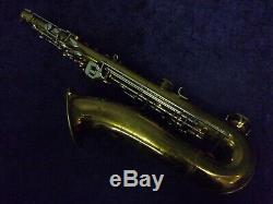 Quality Vintage! Evette Schaeffer Paris France Tenor Saxophone + Case