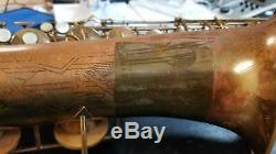 Rare 1947 Conn 10M Naked Lady Tenor Saxophone + case! J