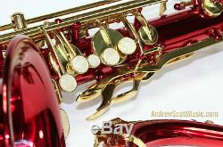 Red Tenor Saxophone New in Case Masterpiece