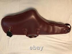 Reunion Blues Burgandy leather Tenor Saxophone case