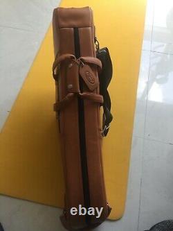Reunion Blues tan Leather Tenor Saxophone Gig Bag Gray Interior case