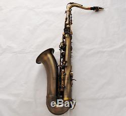 SALE Professional Bb Antique Tenor Saxophone Abalone Key High F# sax New Case