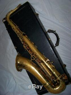 SELMER 164 Omega TENOR SAXOPHONE Xclnt Pads/Orig. Case -VERY COOL HORN