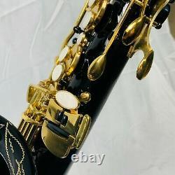 Saxophone B Flat Tenor by Glory Stunning Black & Gold + Hard Case & Stand