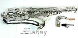 Seller Refurbished Tenor Saxophone Key of Bb Silver Plated with Case
