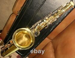 Selmer 1244 Tenor Saxophone With Case & Extras Made In U. S. A Excellent Condition
