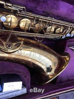 Selmer Super Balanced Action SBA Tenor Saxophone Serial 46683 With Case