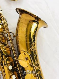 Selmer Super Balanced Action SBA Tenor Saxophone withcase + mouthpiece + papers