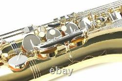 TENOR SAXOPHONE Key of Bb GOLD LACQUER & Nickel keys + Case Accessories