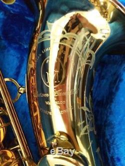 TM Custom Tenor Saxophone Cognac LacquerRolled Tone HolesHiscox CaseAwesome