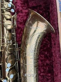 Tenor Saxophone Buescher Big B Early Model Full Professional Overhaul