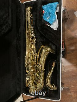 Tenor Saxophone student with case