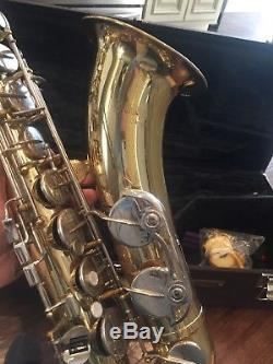 Tenor YTS-23 Yamaha Saxophone with Case and Accessories, Good Condition