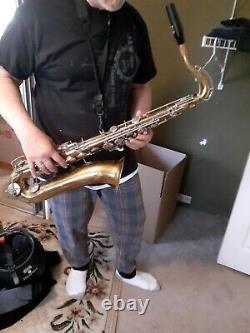 Tenor saxophone, rebuilt by Saxquest, 2114 Cherokee St, St. Louis, MO 63118