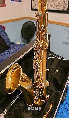 Used Vito Tenor Saxophone with upgraded case. Plays very well. Good condition