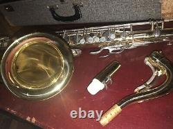 VINTAGE ELKHART 1964 CONN 10M TENOR SAXOPHONE SN C71123 Accessories & Hard Case