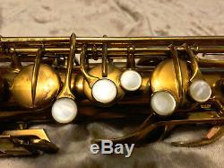 VINTAGE USED 1932 C G CONN TRANSITIONAL TENOR SAXOPHONE with Case