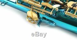 Venus TENOR SAXOPHONE Sax AQUA BLUE w Gold Keys Case & Accessories New TESTED