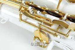 Venus TENOR SAXOPHONE Sax WHITE Color with Gold Keys + Case & Accessories New