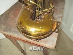 Vintage 1918 C. G. Conn Tenor Saxophone Sax With Case Sax