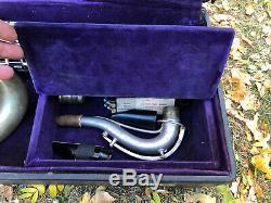 Vintage 1920s Conn Chu Berry Tenor Saxophone Silver parts repair original case