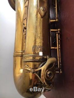Vintage 1956 66XXX SELMER MARK VI Tenor Saxophone Original Lacquer, 2 Necks+Case