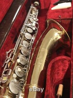 Vintage 1959 Conn Tenor 10M Naked Lady Saxophone with case No Reserve