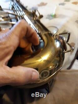 Vintage 1960 Buescher Aristocrat Tenor Saxophone With Case 1 Owner NICE! #422384