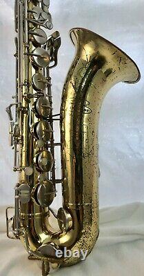 Vintage Buescher 400 Bb Tenor Saxophone/ Hard Case With Mouthpiece